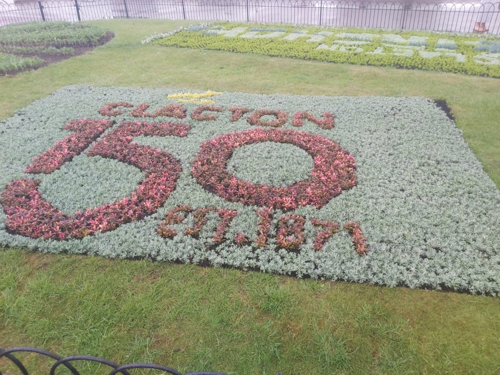 Council unveils flower display in a nod to Clacton's past