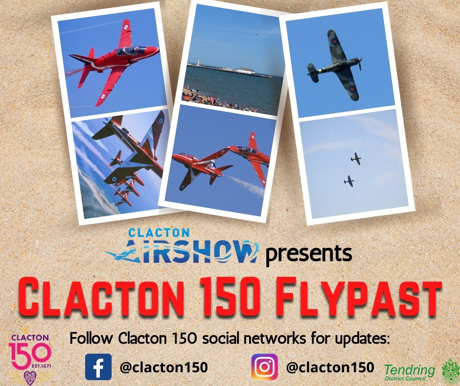 Clacton Airshow presents the Clacton 150 Flypast - August 26 and 27