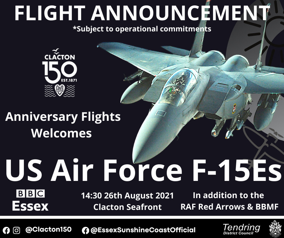 F-15 flypast revealed for Clacton 150 Anniversary Flights